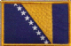 Bosnia Embroidered Flag Patch, style 08.